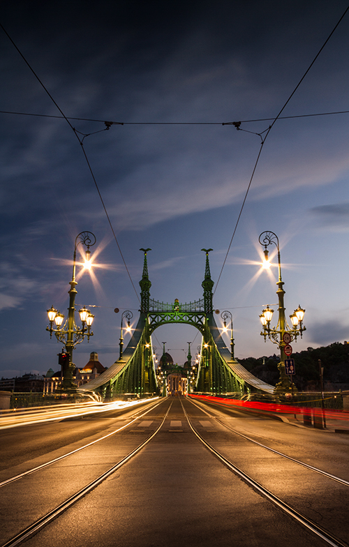 Tram Lines To The Bridge