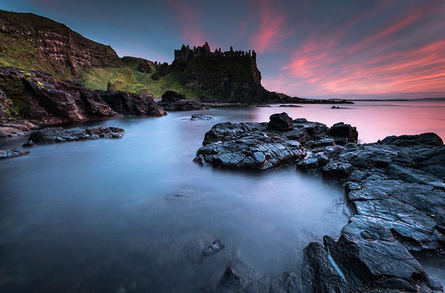 Afterglow At Dunluce Castle